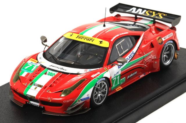 [予約] 宮沢模型特注アイドロン 1/43 フェラーリ 458 GT2 シルバーストーン 6h 2013 2nd 小林可夢偉 No.71 MZE002