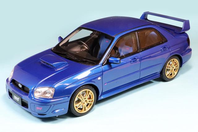 オットーモビル 1/18 スバル インプレッサ WRX STI ブルー OTM369