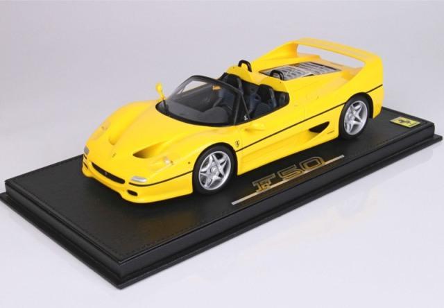 [予約] BBR 1/18 フェラーリ F50 スパイダー 1995 イエロー ディスプレイケース付き P18190B
