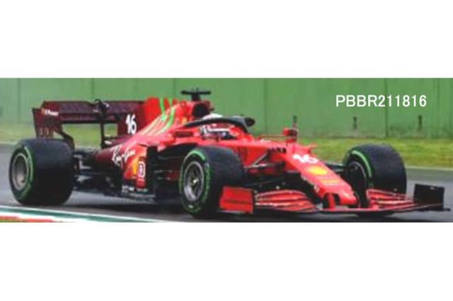 [予約] ミニチャンプス × BBR 1/18 フェラーリ SF21 イモラ エミリアロマーニャGP 2021 C.ルクレール (インターミディエイトタイヤ仕様) PBBR211816