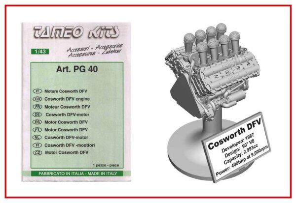 タメオ 1/43 メタルキット フォード コスワース DFV エンジン PG40