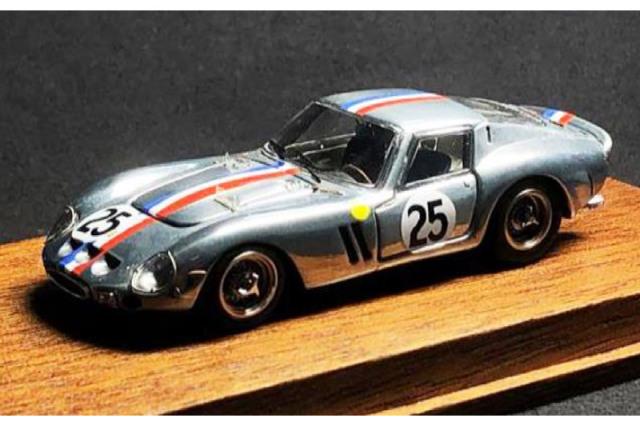 [予約] PGM 1/64 フェラーリ 250 GTO No.25 (フル開閉モデル/ダイキャスト素地カラー) PGM-640107