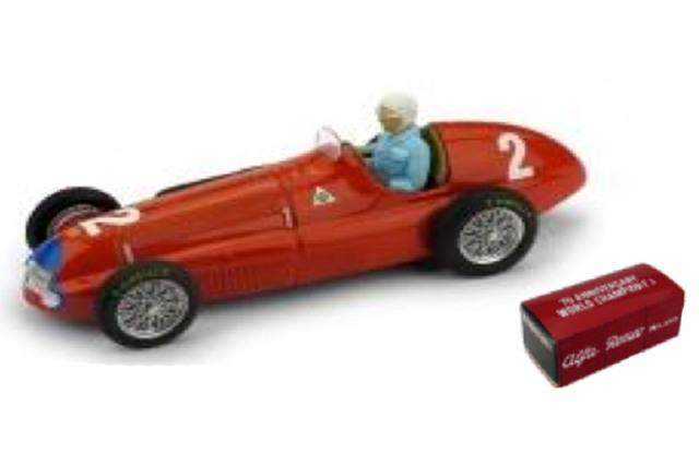 [予約] ブルム 1/43 アルファ ロメオ 158 イギリスGP 1950 G.ファリーナ (ドライバーフィギュア付) R036B-CH