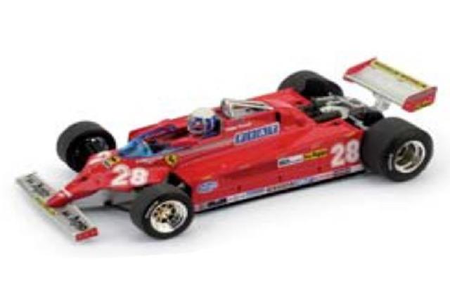 [予約] ブルム 1/43 フェラーリ 126CK ターボ モナコGP 1981 4th 1981 D.ピローニ (ドライバーフィギュア付) R368-CH