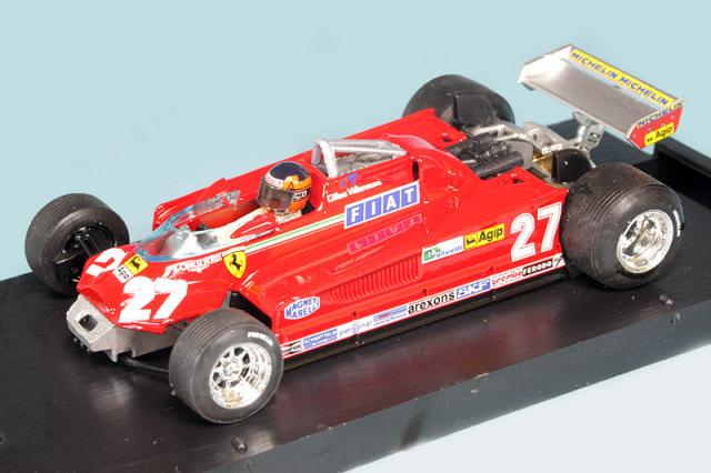 ブルム 1/43 フェラーリ 126 CK ターボ カナダGP 1981 57-63lap 3rd G.ビルヌーブ R438-CH