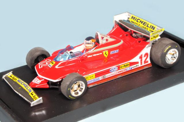 ブルム 1/43 フェラーリ 312 T4 U.S.A.GP 1979 G.ビルヌーブ (ドライバーフィギュア付) R578B-CH
