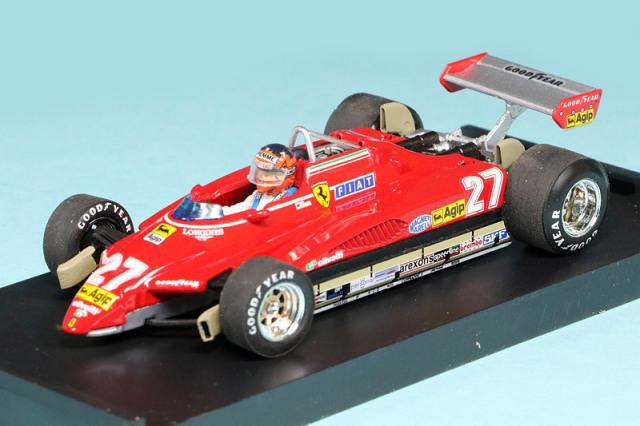 ブルム 1/43 フェラーリ 126 C2 ブラジルGP 1982 G.ヴィルヌーブ (ドライバー付) R593-CH