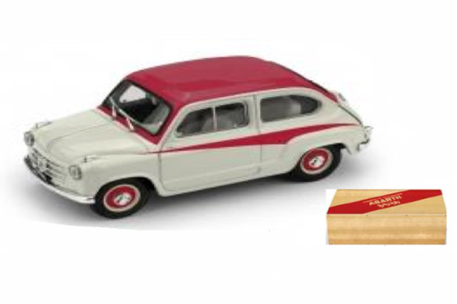 [予約] ブルム 1/43 フィアット 600 DERIVAZIONE アバルト 750 1956 グレー/レッド R645-01