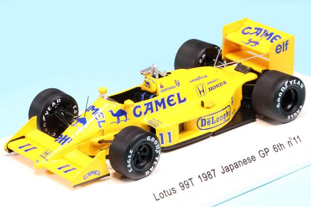 レーヴコレクション 1/43 ロータス 99T 日本GP 1987 6th 中嶋悟 デカール加工品 R70184S