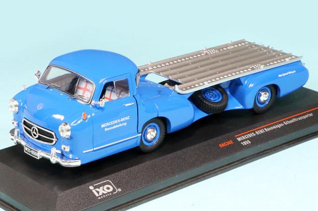 イクソ 1/43 メルセデス ベンツ レーシングカートランスポーター 1955 Blaues Wunder RAC342