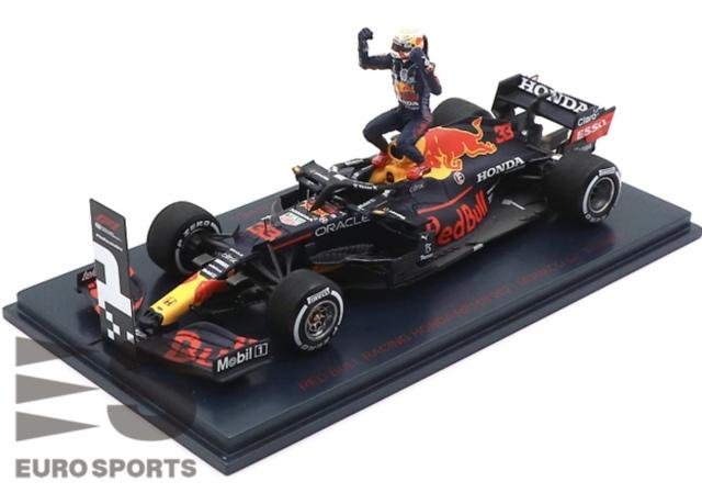 [予約] ユーロスポーツ特注スパーク 1/43 レッドブル レーシング ホンダ RB16B モナコGP 2021 Winner M.フェルスタッペン With No.1 Board & フィギュア RBR-ES-2109