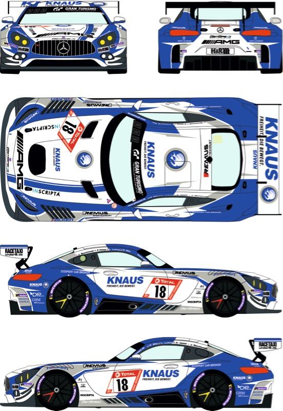 レーシングデカールズ 1/24 メルセデス AMG GT3 ニュル 24h 2019 No.18 フルスポンサーデカール (タミヤ対応) RDE24-031