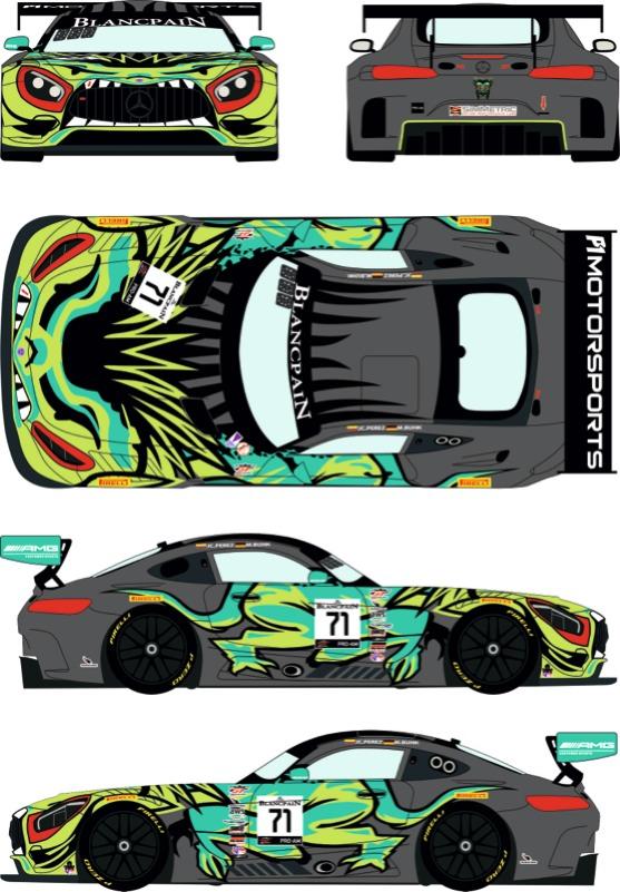 レーシングデカールズ 1/24 メルセデス AMG GT3 ブランパン GTワールドチャレンジ アメリカ コタ 2019 No.71 フルスポンサーデカール (タミヤ対応) RDE24-037