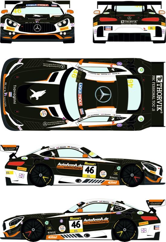 """レーシングデカールズ 1/24 メルセデス AMG GT3 """"リキモリ"""" バサースト 12h 2020 No.46 フルスポンサーデカール (タミヤ対応) RDE24-039"""