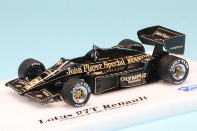 """ロムファクトリー 1/43 ロータス 97T ルノー ポルトガルGP 1985 Winner アイルトン・セナ """"初優勝"""" RFK356MT"""