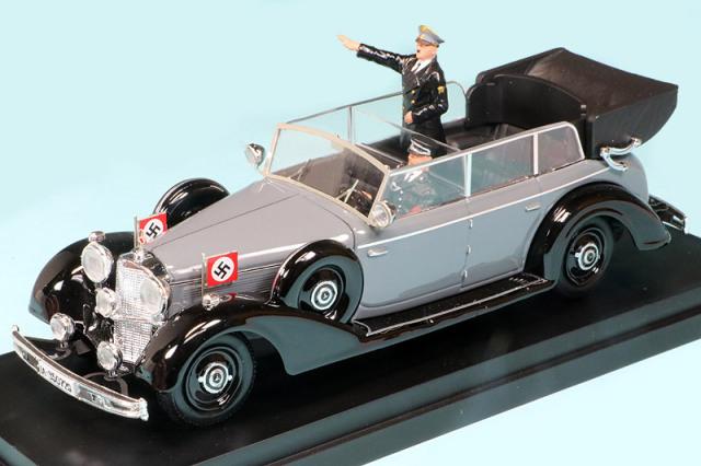 リオ 1/43 メルセデス ベンツ 770K 1942 グレー/ブラック ヒトラーフィギュア付 RIO4650P