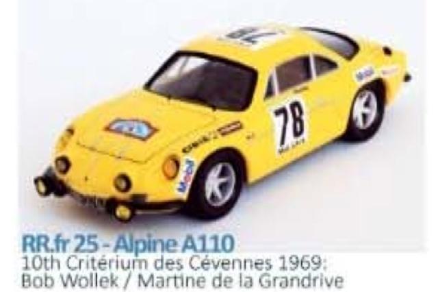 [予約] トロフュー 1/43 アルピーヌ ルノー A110 Criterium des Cevennes 1969 10th No.78 RRfr25