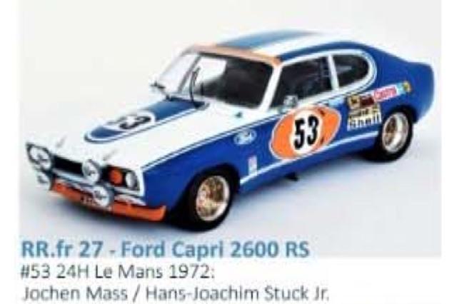 [予約] トロフュー 1/43 フォード カプリ 2600 RS ルマン 24h 1972 No.53 RRfr27