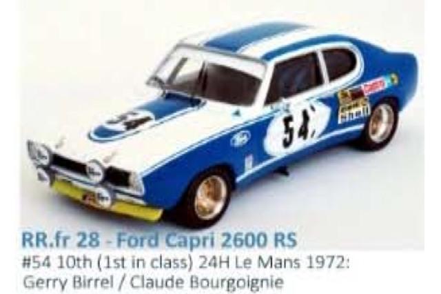 [予約] トロフュー 1/43 フォード カプリ 2600 RS ルマン 24h 1972 クラスWinner No.54 RRfr28