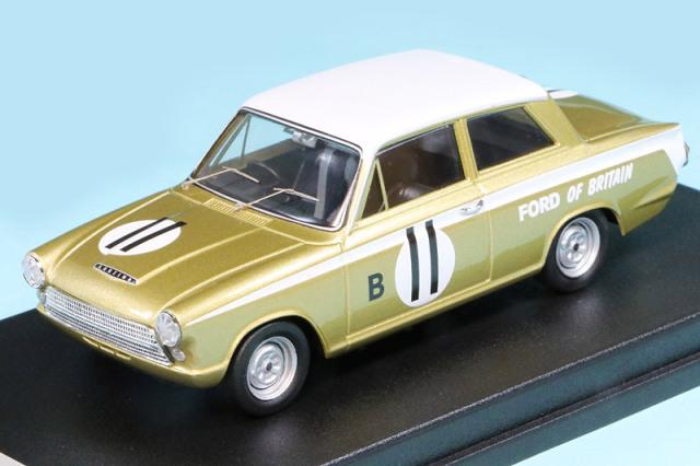 トロフュー 1/43 フォード コルティナ GT マルボロ 12h 1963 2nd No.11 RRus05