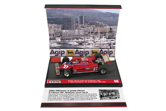 """[予約] ブルム 1/43 フェラーリ 126CK ターボ モナコGP 1981 Winner G.ビルヌーブ """"40th アニバーサリー 1981-2021"""" S21-01"""