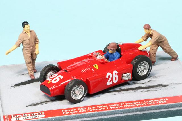 ブルム 1/43 フェラーリ D50 イタリアGP 1956 2nd J.M.ファンジオ S21-10