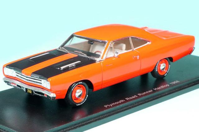 スパーク 1/43 プリマス ロード ランナー ハードトップ 1968 オレンジ S3614