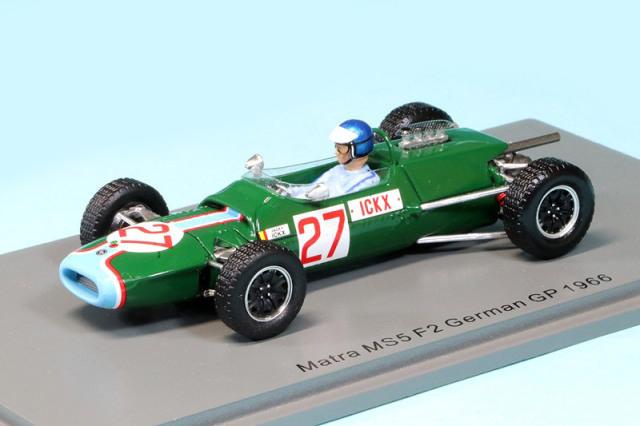 スパーク 1/43 マトラ MS5 F2 ドイツGP 1966 J.イクス S4309