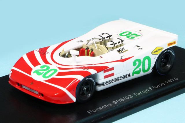 スパーク 1/43 ポルシェ 908/03 タルガフローリオ 1970 No.20 S4627
