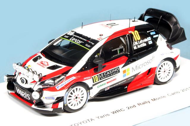 スパーク 1/43 トヨタ ヤリス WRC モンテカルロラリー 2017 2nd J.M.Latvala/M.Anttila No.10 S5163