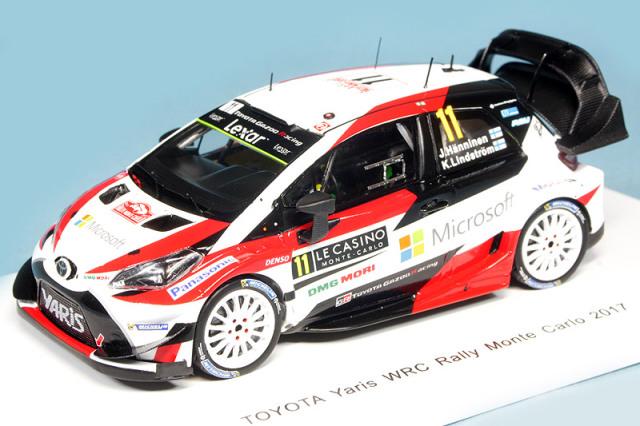 スパーク 1/43 トヨタ ヤリス WRC モンテカルロラリー 2017 J.Hnninen/K.Lindstrm No.11 S5164