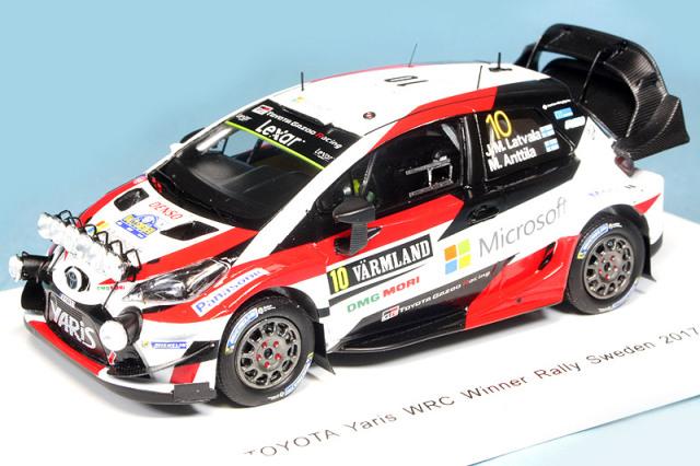 """スパーク 1/43 トヨタ ヤリス WRC スウェーデンラリー 2017 Winner J.M.Latvala/M.Anttila No.10 """"ヤリス初優勝"""" S5165"""