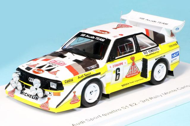 スパーク 1/43 アウディ スポーツ クアトロ S1 E2 モンテカルロラリー 1986 3rd No.6 S5191