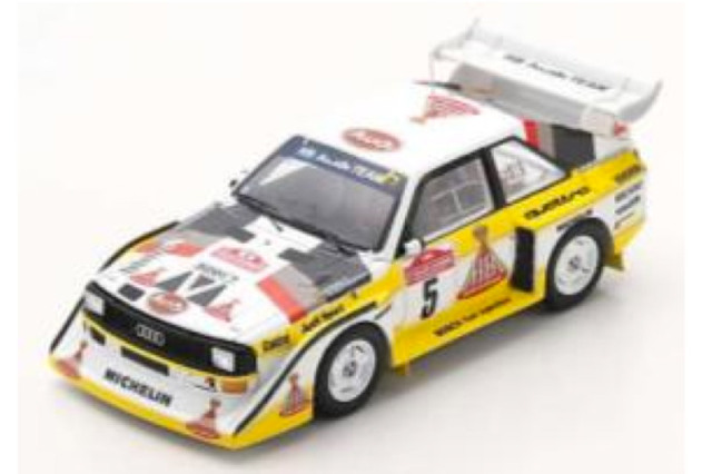 [予約] スパーク 1/43 アウディ スポーツ クアトロ S1 E2 サンレモラリー 1985 Winner No.5 S5192