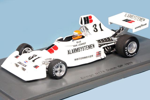 スパーク 1/43 エンサイン N174 オランダGP 1975 G.V.レネップ S5301