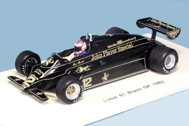 スパーク 1/43 ロータス 91 ブラジルGP 1982 N.マンセル S5353