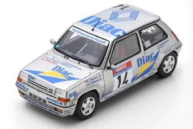 [予約] スパーク 1/43 ルノー 5 GT ターボ ツール ド コルス フランスラリー 1990 No.14 S5556