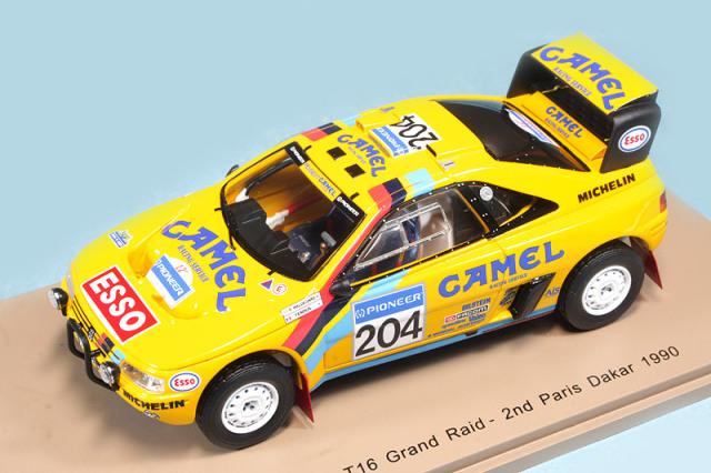 スパーク 1/43 プジョー 405 T16 Grand Raid パリ ダカール 1990 2nd No.204 デカール加工品 S5625S