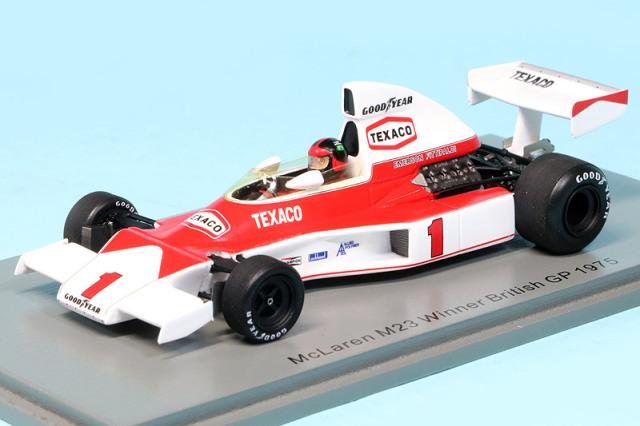 スパーク 1/43 マクラーレン M23 イギリスGP 1975 Winner E.フィッティパルディ S5743