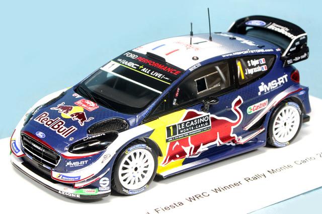 スパーク 1/43 フォード フィエスタ WRC Mスポーツ WRT モンテカルロラリー 2018 Winner S.オジェ/J.Ingrassia No.1 S5951