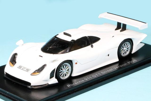 スパーク 1/43 ポルシェ 911 GT1 ストリートVer. 1998 ホワイト S5998