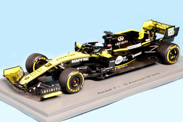 スパーク 1/43 ルノー R.S.19 オーストラリアGP 2019 D.リカルド S6075