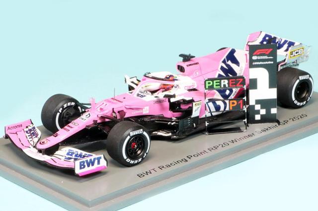 スパーク 1/43 BWT レーシング ポイント RP20 サクヒールGP 2020 Winner S.ペレス (ピットボード付) S6485