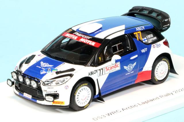 スパーク 1/43 シトロエン DS3 WRC アークティックラリー 2020 V.ボッタス S6566