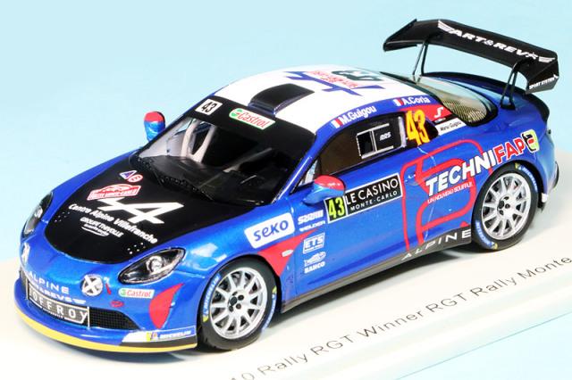 スパーク 1/43 アルピーヌ A110 RGT モンテカルロラリー 2021 Winner No.43 S6578