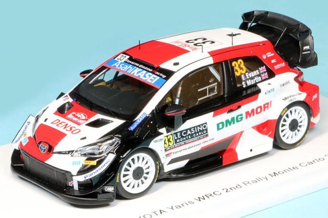 スパーク 1/43 トヨタ ヤリス WRC モンテカルロラリー 2021 2nd E.エヴァンス No.33 S6583