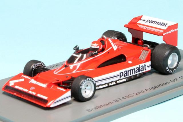 スパーク 1/43 ブラバム BT45C アルゼンチンGP 1978 N.ラウダ デカール加工品 S7111S