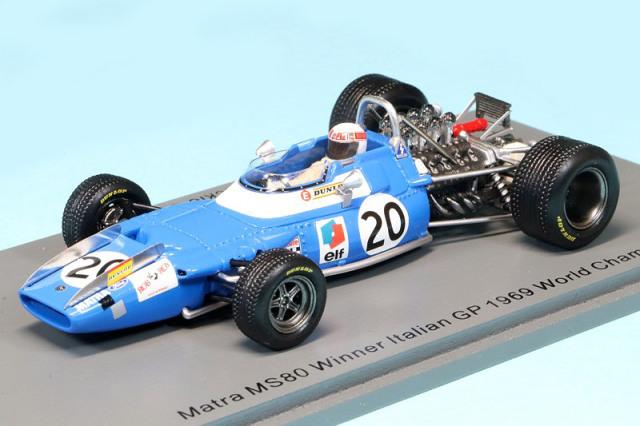 スパーク 1/43 マトラ MS80 イタリアGP 1969 Winner J.スチュワート S7192