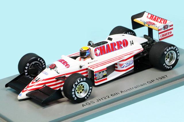 スパーク 1/43 AGS JH22 オーストラリアGP 1987 6th R.モレノ S7221