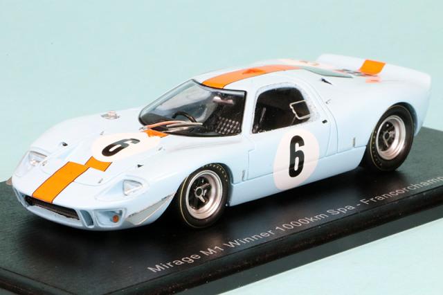 スパーク 1/43 ミラージュ GT40 スパ 1000km 1967 Winner No.6 S7460